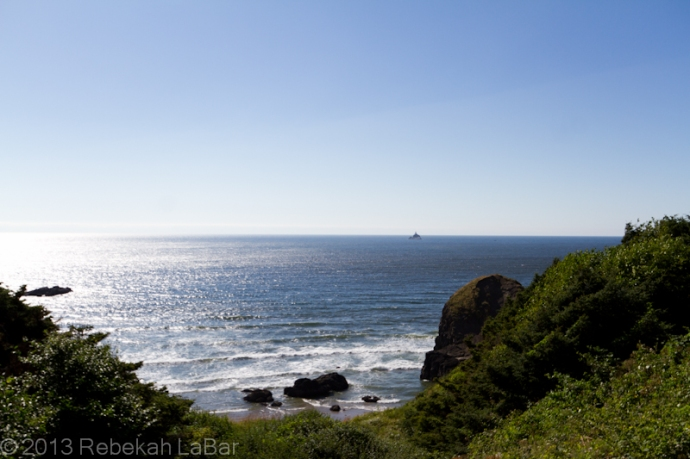 Tillamook Rock Lighthouse, from Ecola State Park