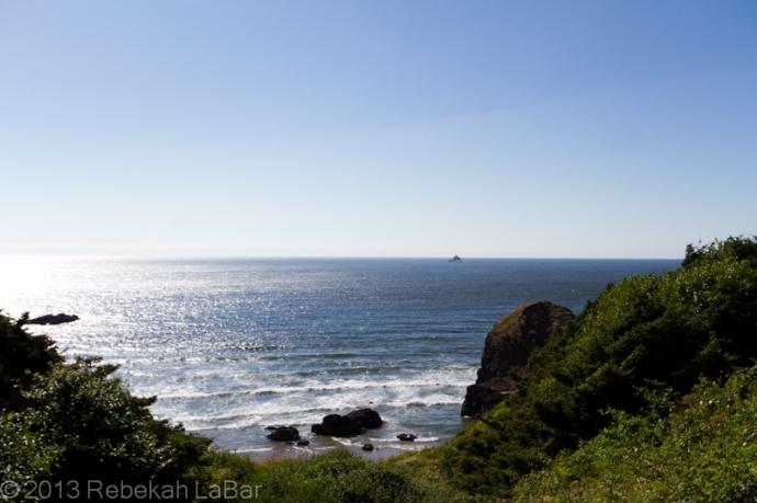 Tillamook Rock Lighthouse, from Ecola State Park