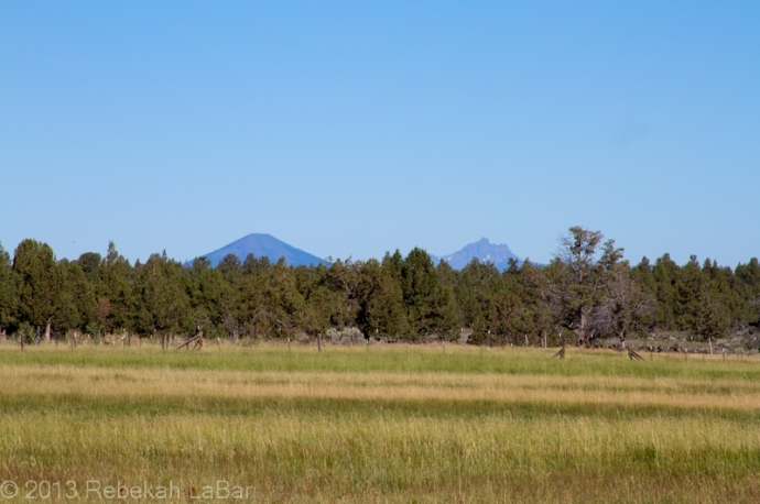 Black Butte (left) and Three Fingered Jack