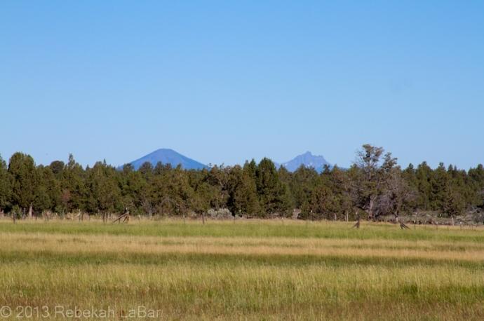 Black Butte (left) and Three Fingered Jack